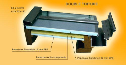 Double-toiture isolée des vérandas Tahon