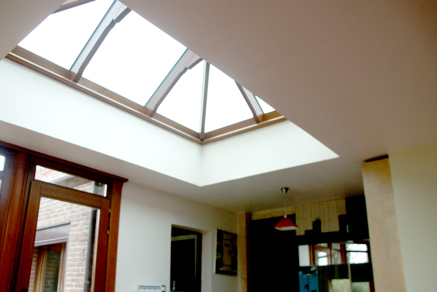 Extension d'habitation avec dôme vitré à Douai