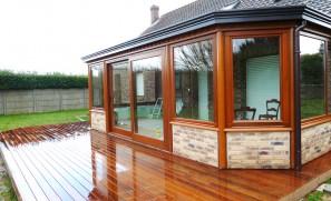 Extension bois «véranda-pièce à vivre»  de 26 m2
